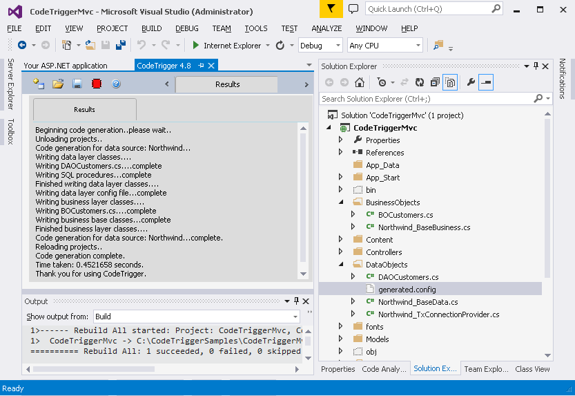 Code Trigger - Code Generation Tools For C# WPF WCF SQL SERVER