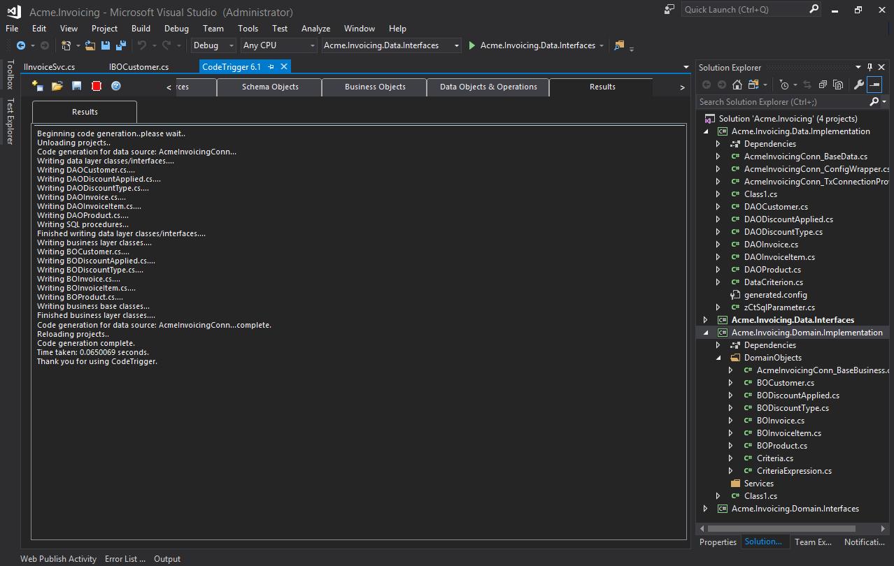 Code Trigger - Code Generation Tools For C# WPF WCF SQL SERVER